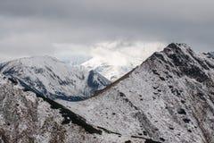 Panorama of Polish Tatra mountains Stock Photo