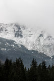 Panorama of Polish Tatra mountains Royalty Free Stock Photography