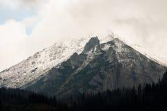 Panorama of Polish Tatra mountains Royalty Free Stock Photos