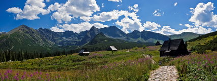 Panorama of Polish Tatra mountains Stock Image