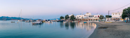 Panorama Pollonia, Milos fotografia stock