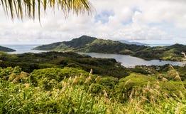Panorama of Polynesian Island Royalty Free Stock Images