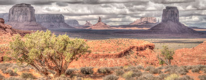 Panorama Pomnikowa dolina w Arizona Zdjęcia Royalty Free
