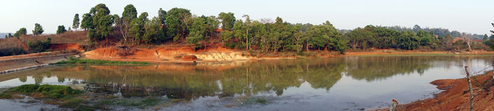 Panorama of pond Royalty Free Stock Images