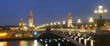 Panorama Pont Alexandre Stockbild