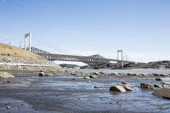 Panorama of the Pont de Quebec in spring season Royalty Free Stock Photos