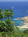 Panorama by Ponza Island, Italy stock image