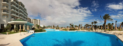 Panorama of a pool Stock Photography
