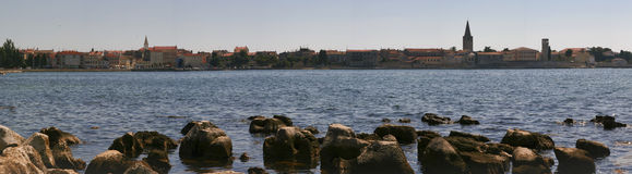 Panorama of Porec, Croatia. Old croatian historic city Porec Royalty Free Stock Photos