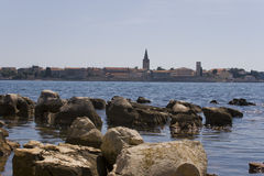 Panorama of Porec, Croatia. Stock Image