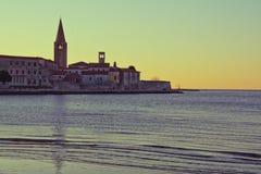 Panorama of Porec, Croatia Stock Photography