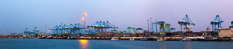 Panorama of  Port of Algeciras Royalty Free Stock Image
