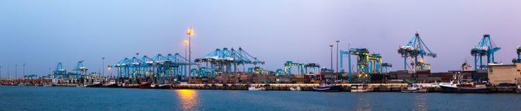 Panorama of  Port of Algeciras Royalty Free Stock Image