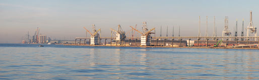 Panorama port of Antwerp Stock Image