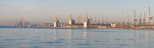 Panorama port of Antwerp Stock Image