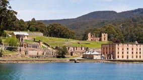 Panorama of Port Arthur. Tasmania, former penal colony Stock Photos