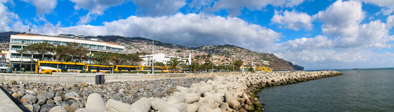 Panorama of Port of Funchal, Madeira Royalty Free Stock Image