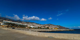 Panorama of Port of Funchal, Madeira Royalty Free Stock Photography