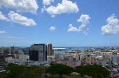 Panorama of Port Louis 1. Panorama of Port Louis, the capital of Mauritius Royalty Free Stock Photo