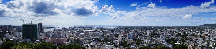 Panorama of Port Louis. Panorama overlook the capital city of Mauritius,Port Louis Royalty Free Stock Image