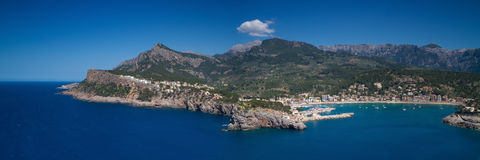 Panorama of Port Soller Stock Images
