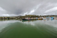 Panorama port St Helens, zatoka ogienie Obrazy Royalty Free
