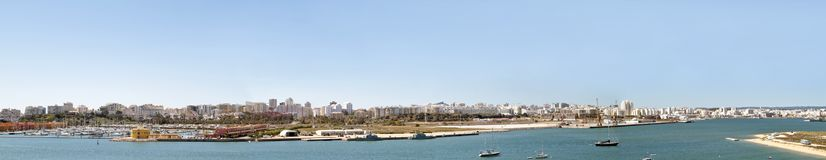 Panorama on Portimao in Portugal. Panorama on Portimao in the Algarve Portugal Stock Images