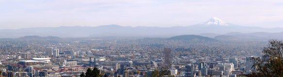 panorama portland för 3 oregon fotografering för bildbyråer