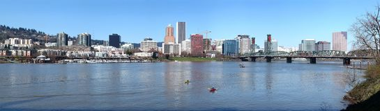 A panorama of Portland Oregon. Royalty Free Stock Images