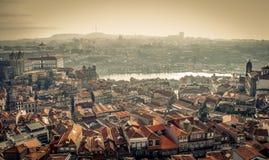 Panorama Porto royalty-vrije stock afbeelding