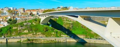 Panorama Porto, Arrabida Bridge Portugal stock photo