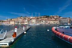 Panorama of Porto Azzurro on Elba Island, Italy Royalty Free Stock Photos