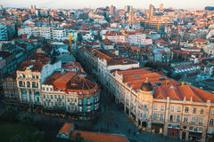Panorama of Porto from Clerigos tower Royalty Free Stock Image