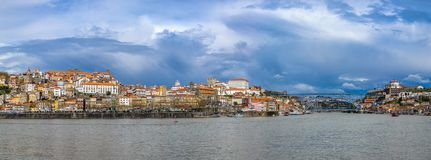 Panorama of Porto with Luis I Bridge, Portugal Royalty Free Stock Images