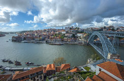 Panorama of Porto with Luis I Bridge, Portugal Stock Photo