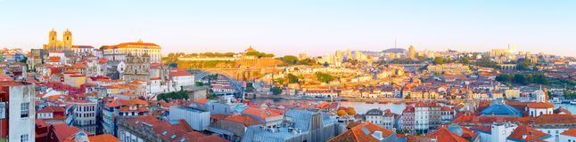 Panorama Porto Old Town Gaia royalty free stock image