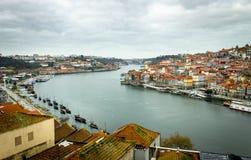 Porto and Gaia Margins Panorama stock images