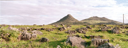 Panorama of Porto santo hills2 Stock Photography