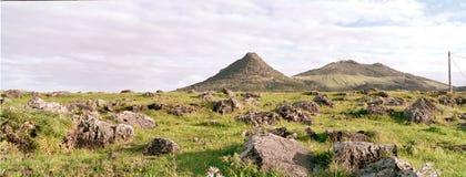 Panorama of Porto santo hills2 Stock Photography