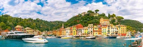 Panorama of Portofino, Italian Riviera, Liguria Royalty Free Stock Image