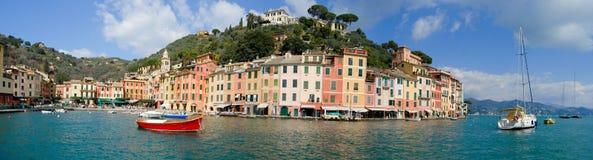 Panorama of Portofino (Italy). Photo Panorama of Portofino made 16.03. 2013. Portofino is an internationally renowned resort city. To illustrate articles Stock Photo