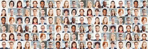 Free Panorama Portrait Collage Of Business People Stock Photo - 143042860