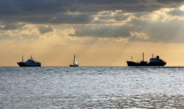 panorama portu Zdjęcie Stock