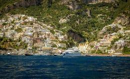 Panorama of Positano town, Amalfi Coast royalty free stock images