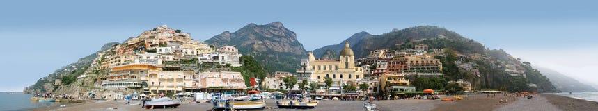 Panorama Positano, Włochy Fotografia Stock
