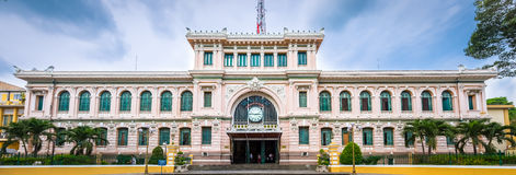 Panorama Post office of Ho Chi Minh city, Vietnam Stock Photography