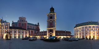 Panorama of Poznan in Poland Stock Photography