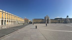 Panorama from the Praça do Comércio Royalty Free Stock Images