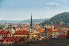 Panorama Praga Imágenes de archivo libres de regalías