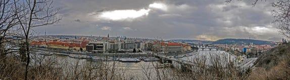 panorama prague Royaltyfri Bild